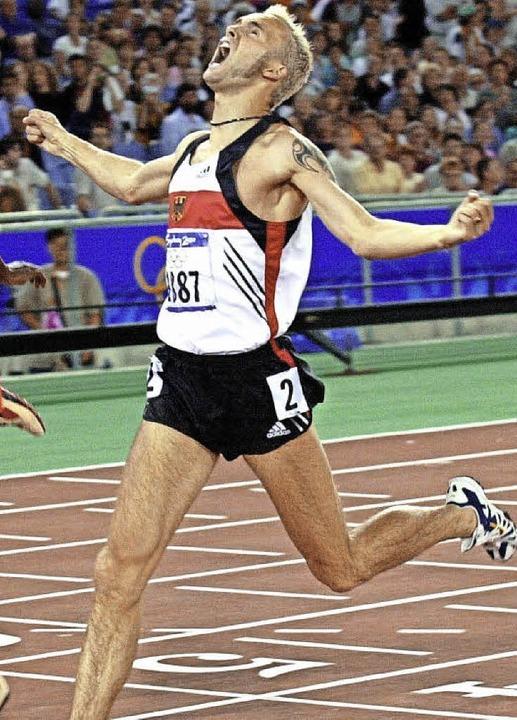 Sein größter Erfolg: Bei den Olympisch...ster Deutscher Gold im 800-Meter-Lauf   | Foto: AFP