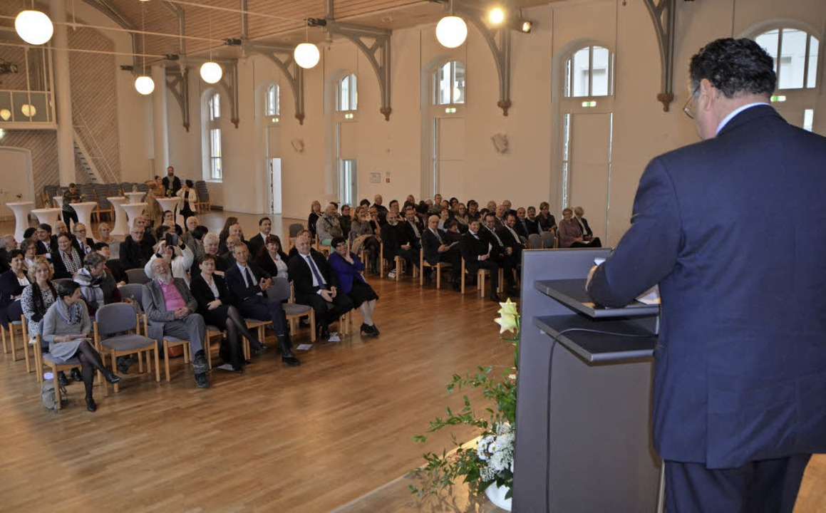 Der Vorsitzende des jüdischen Oberrats... beim Jubiläum der jüdischen Gemeinde.  | Foto: Gerhard Walser