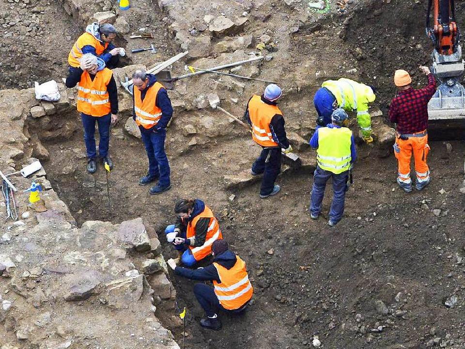 Kam der Fund der Steine überraschend?    Foto: Michael Bamberger