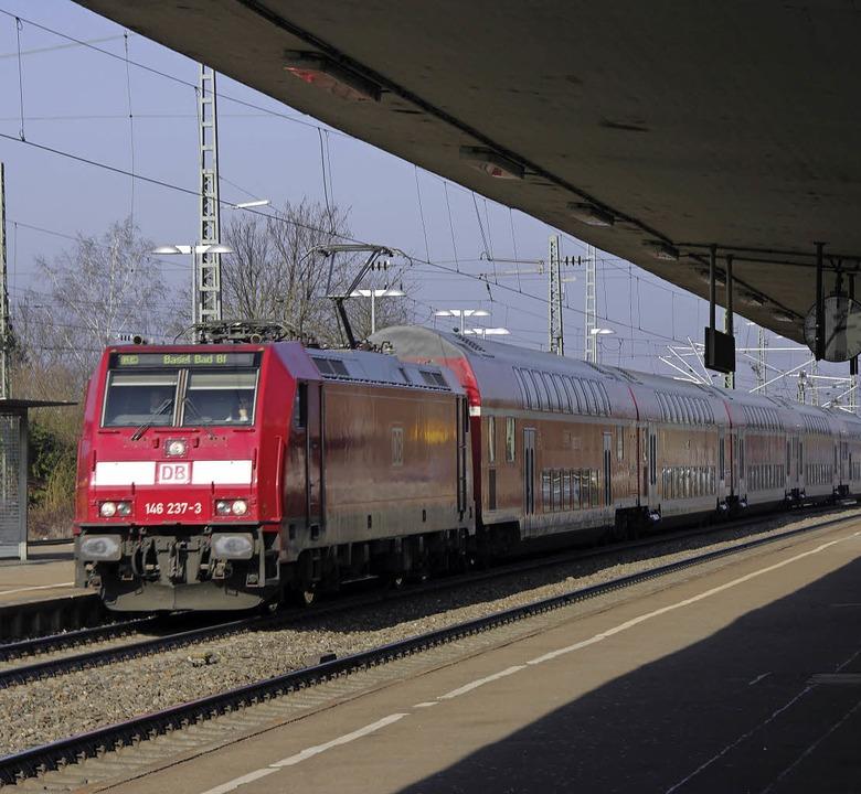Wie geht es mit dem Ausbau der Rheintalbahn weiter?     Foto: M. Pfefferle