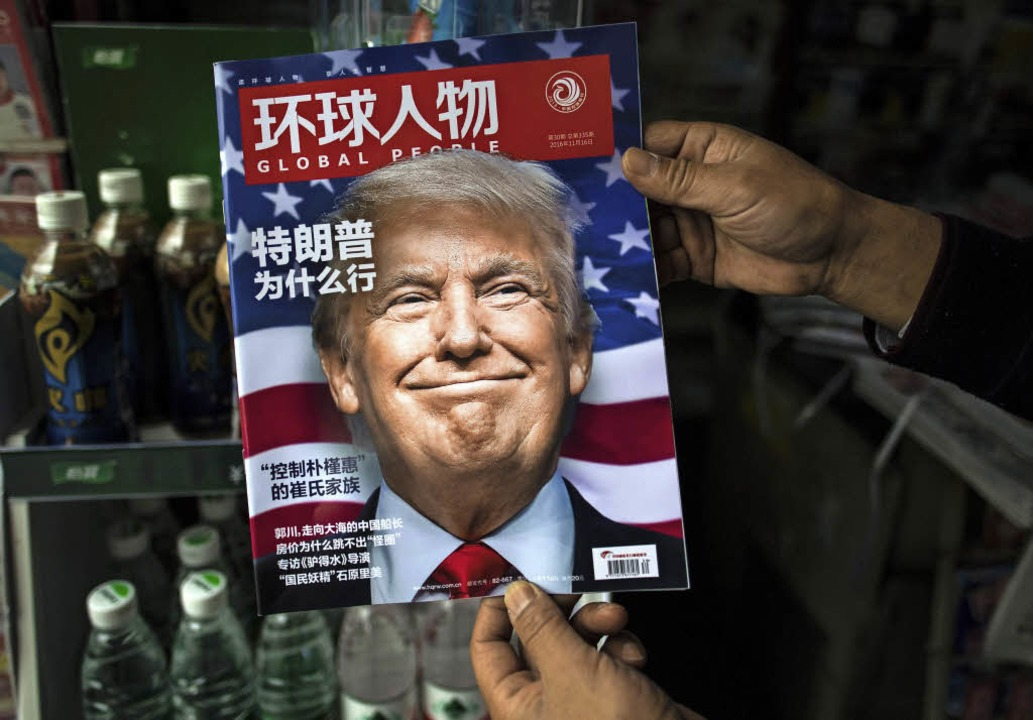 """Warum hat Trump gewonnen?&#8220...as chinesische Magazin Global People.     Foto: afp/Thomas Kunz"