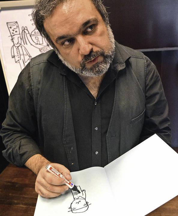 Illustrator Mehrdad Zaeri  | Foto: Barbara Ruda