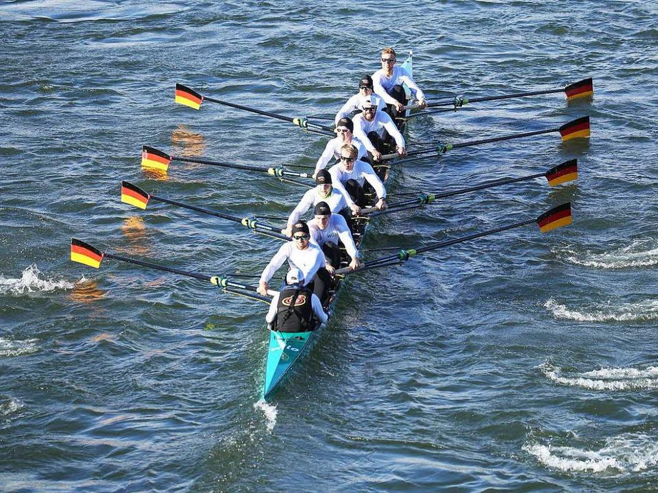 Der Deutschland-Achter debütiert in Ba...iert gleich einmal den Streckenrekord.    Foto: Grant Hubbs