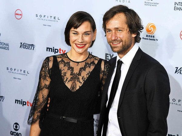 Christiane Paul und Florian Stetter bei den Emmy Awards.