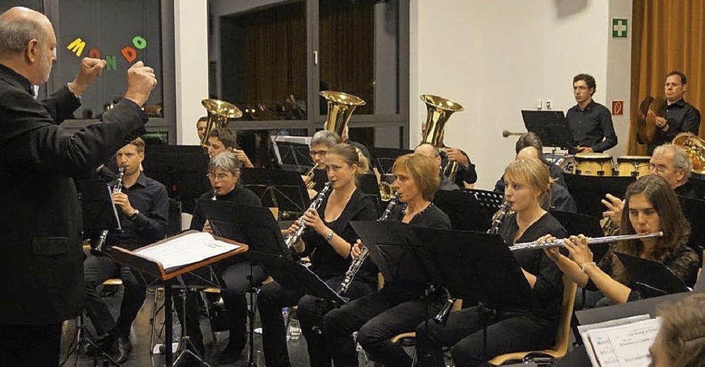 Der Musikverein Wittnau bei seinem Auftritt   | Foto: Anne Freyer