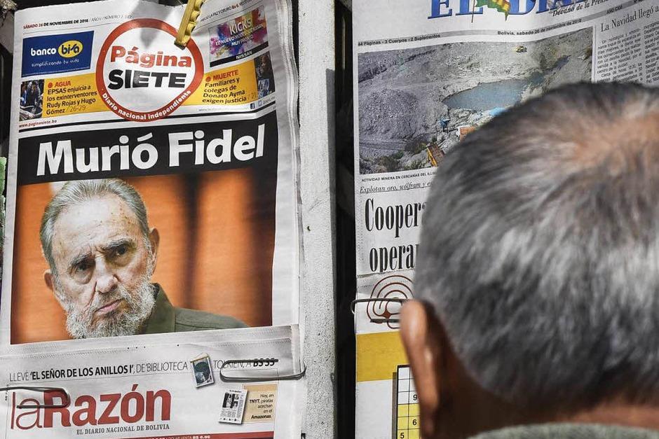 Der Tod Castros bestimmt die Titelseiten der Zeitungen. (Foto: AFP)
