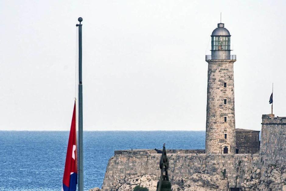 In Kuba hängen die Fahnen auf Halbmast (Foto: AFP)