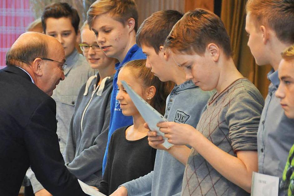 Impressionen von der zentralen Verleihung der Leistungsabzeichen mit Konzert des Verbandsjugendorchesters in Tegernau. (Foto: Daniel Gramespacher)