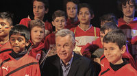 Ottmar Hitzfeld bei Kinderuni Hochrhein ausgefragt