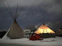 Fotos: Protest gegen Öl-Pipeline im Norden der USA