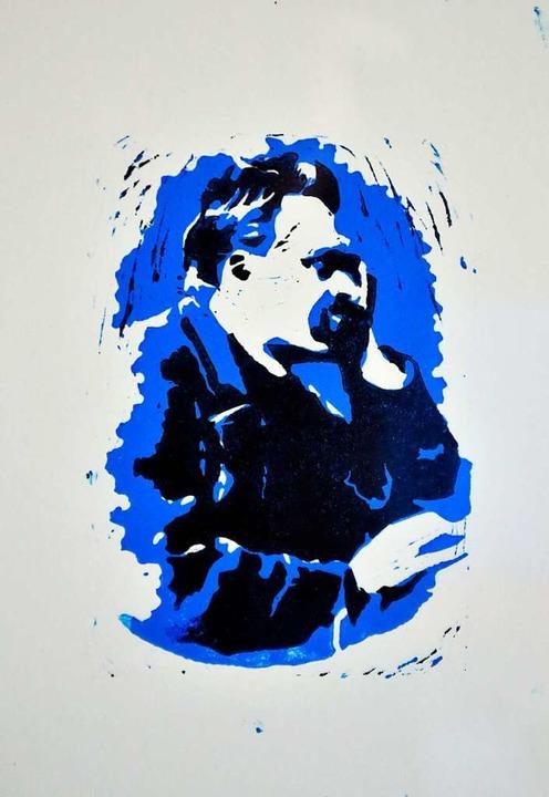 Friedrich Nietzsche in Blau – ein Druck aus Sommers Arbeitszimmer  | Foto: Thomas Kunz