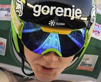Skispringer auf dem Boden der Tatsachen