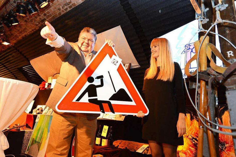 BZ-Verleger Christian Hodeige und Svenja Stärk (Foto: Rita Eggstein)