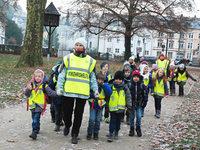 """Der """"Laufende Schulbus"""" der Hebelschule sucht Helfer"""