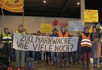 Mahnwache gegen AKW in Fessenheim