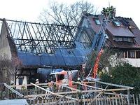 Scheunenbrand greift auf Haus über - keine Verletzten