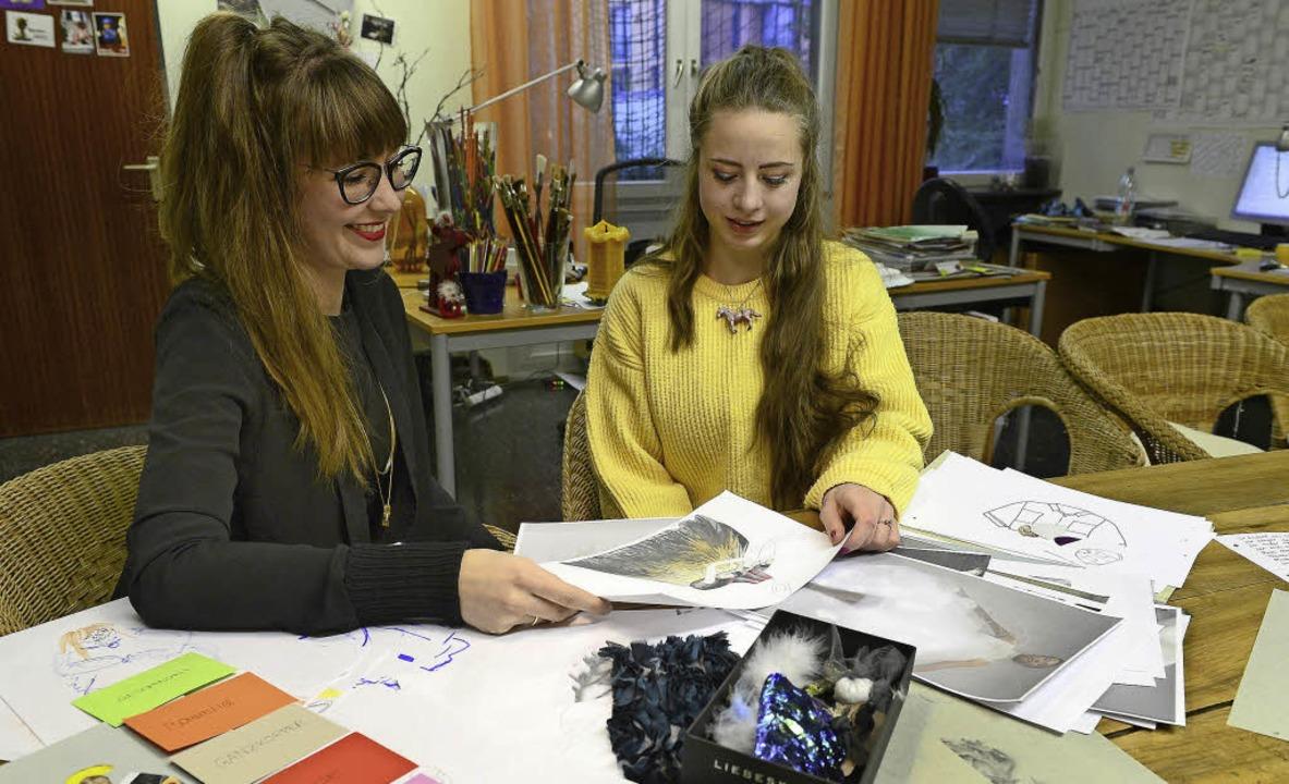 Mentorin Sarah Mittenbühler mit ihrem Schützling Lilja Schreiber    | Foto: ingo schneider