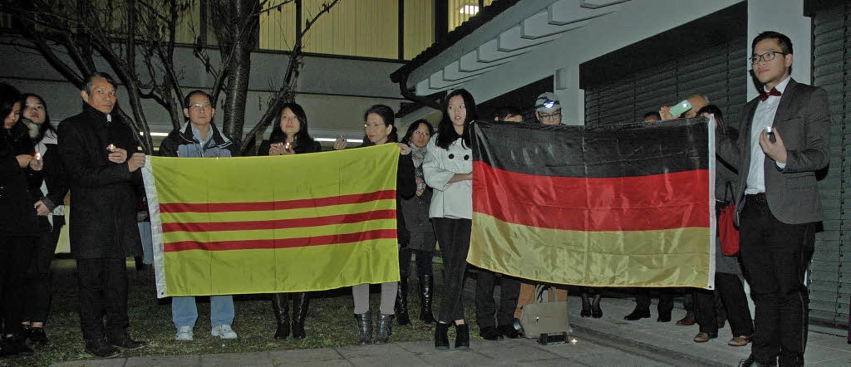 Die vietnamesischen Katholiken in Weil...Menschenrechte in ihrem Herkunftsland.  | Foto: OUNAS-KRÄUSEL