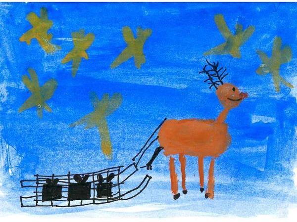Die fünf schönsten Karten: Diese malte Mika Braith, 8 Jahre, aus Opfingen.