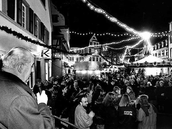Weihnachtsmarkt Lahr, Eröffnung 27.11.97
