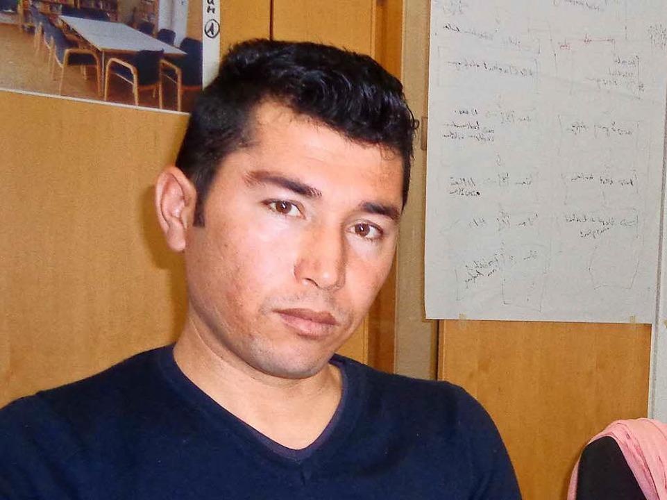Moussa aus Afghanistan.    Foto: Annemarie Rösch