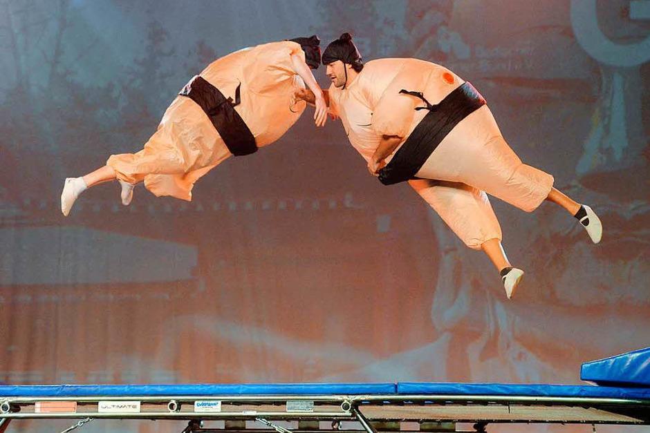 "Impressionen der Turngala ""Bodies and Beats"" in der Freiburger Rothaus Arena (Foto: Patrick Seeger)"
