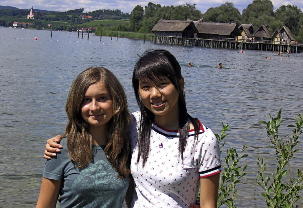 Im Sommer 2007 besuchten Franziska Bra...bauten in Unteruhldingen am Bodensee.   | Foto: Privat