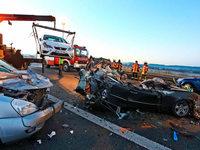 Horrorcrash auf der A7 im Allgäu fordert sechs Tote