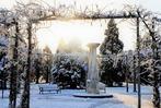 Fotos: Der verschneite Seepark in Freiburg