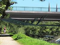 Die neue Kronenbrücke hat eine besondere Konstruktion samt Tragwerk mit Gussknoten