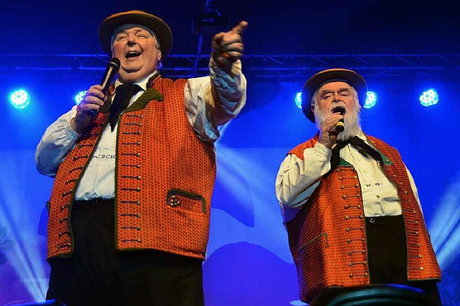 Die Wildecker-Herzbuben: links Wolfgang Schwalm, rechts Wilfried Gliem (Foto: Jonas Hirt)
