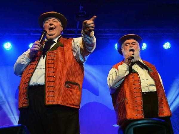 Die Wildecker-Herzbuben: links Wolfgang Schwalm, rechts Wilfried Gliem