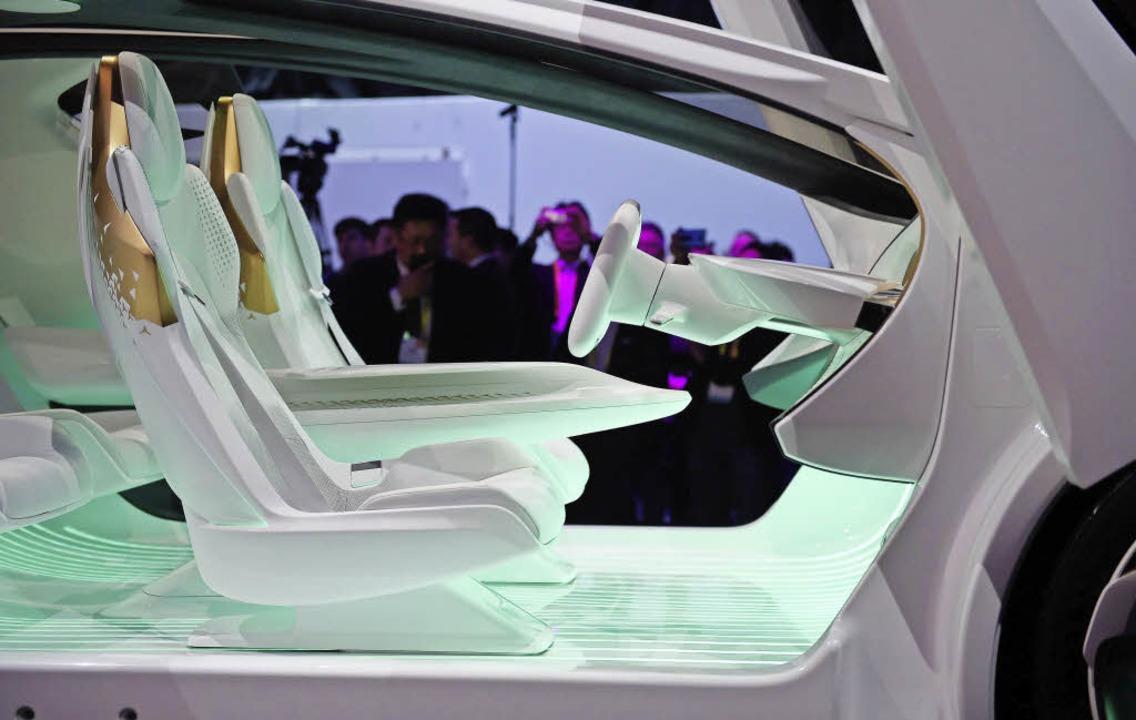 Auto  oder Raumschiff? Der selbstfahrende Concept-i von Toyota   | Foto: dpa