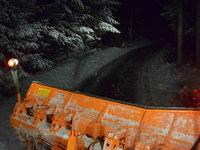 Eindrücke aus einem Räumungsfahrzeug in Biederbach