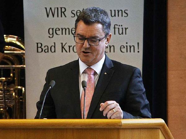 Bad Krozingens Bürgermeister Volker Kieber