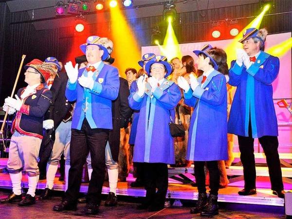 In der Stadthalle Schopfheim wurde es eng beim Auftritt der Guggemusiken