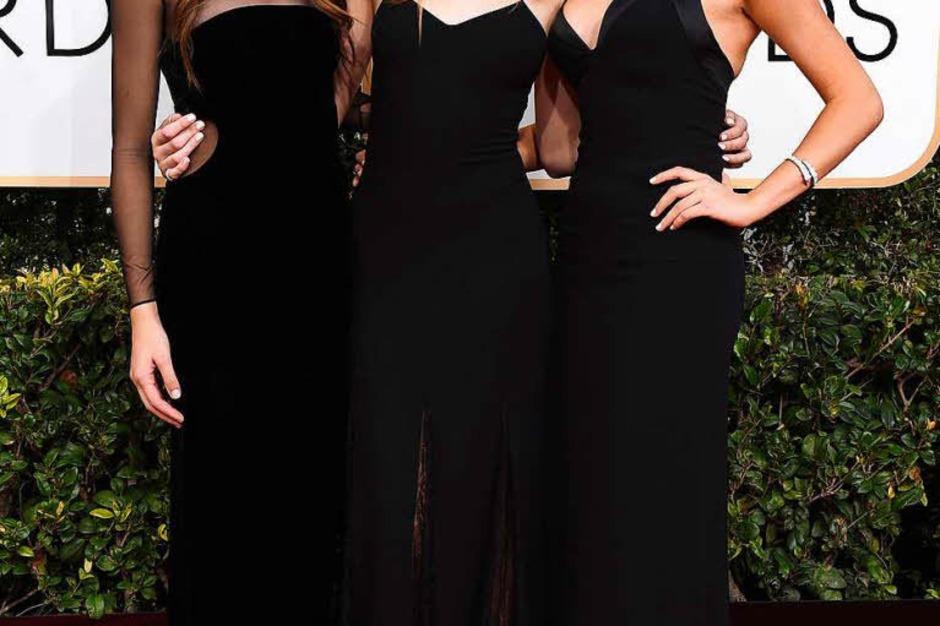 """Die drei """"Miss Golden Globes""""-Schwestern Sistine Stallone, Scarlet Stallone und Sophia Stallone (Foto: dpa)"""