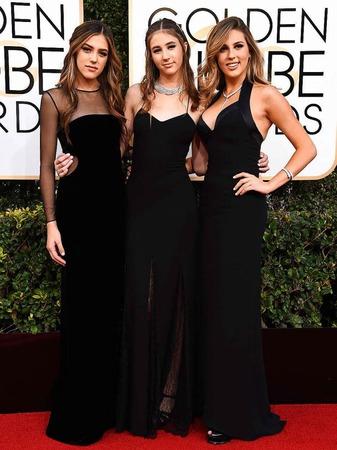 """Die drei """"Miss Golden Globes""""-Schwestern Sistine Stallone, Scarlet Stallone und Sophia Stallone"""