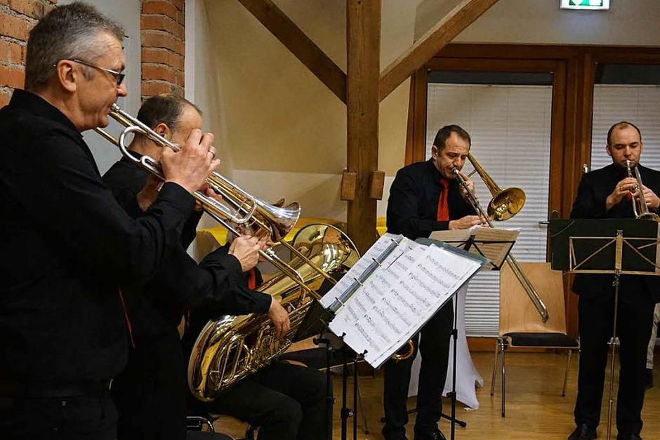 Musikalische Umrahmung mit dem Bläserquintett des MV Umkirch (Foto: Julius Wilhelm Steckmeister)