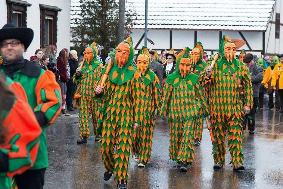 Die Gelruewe-Ritter haben ihren 50. Geburtstag drei Tage lang gefeiert. Zu Gast waren auch viele Zünfte, die, wie die Gelruewe, Obst oder Gemüse zur Schau tragen. (Foto: Olaf Michel (Bilder-Michel.de))
