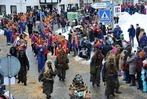 Die Bergteufel feierten mit ihren Gästen ausgelassen im Schnee