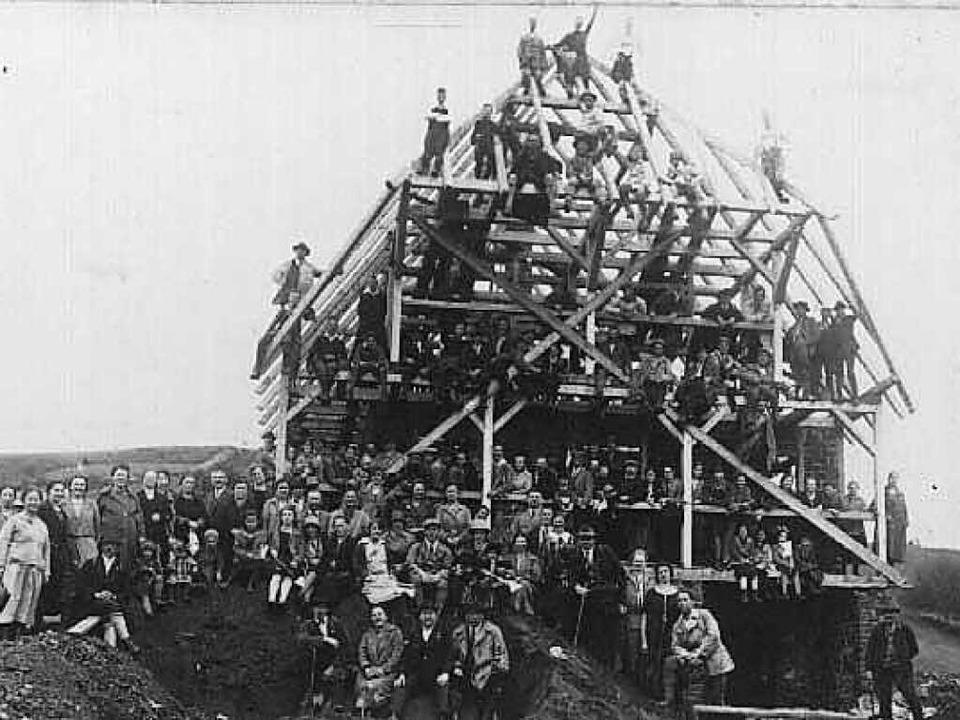 Stolz waren die fleißigen Mitglieder d... Die Aufnahme stammt aus dem Jahr 1928  | Foto: Schwarzwaldverein