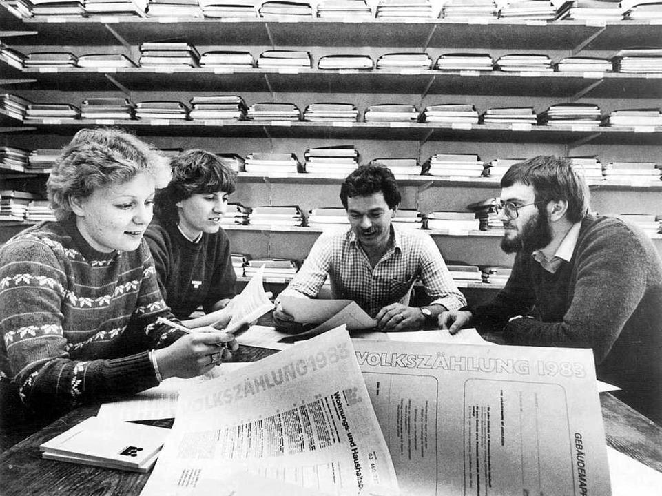 1983 wurden die Deutschen statistisch ... begann das damals umstrittene Zählen.  | Foto: Heinz Wurzer