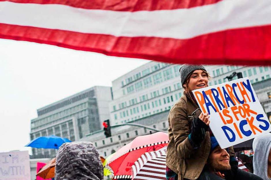 Massendemos für Frauenrechte und Protest gegen den neuen US-Präsidenten Trump in Washington D.C. und anderen Städten (Foto: dpa)