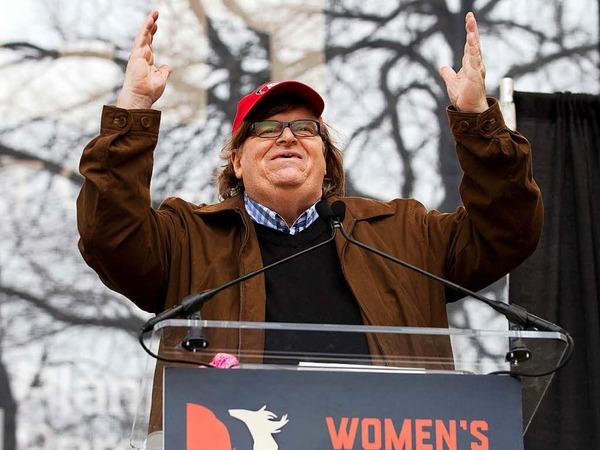Filmemacher Michael Moore spricht in Washington