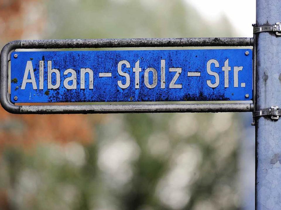 Auch die Alban-Stolz-Straße soll umbenannt werden.    Foto: Ingo Schneider