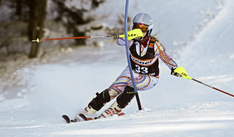 Konzentriert auf dem Ski: Elena Längin  | Foto: horning-wiesler