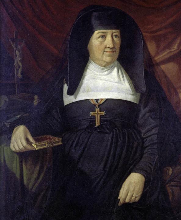 Karoline Kaspar, nach einem Gemälde von Sebastian Luz (1836 - 1898)   | Foto: Stiftungsverwaltung Freiburg