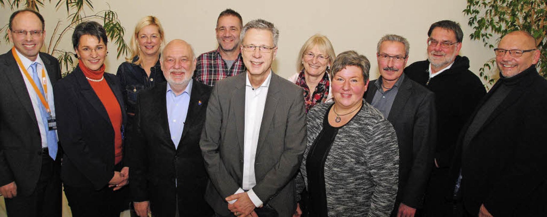 Der neu gewählte Vorstand des CDU Stad...Dr. Stefan Grüter und Claus Weibezahl   | Foto: Sedlak