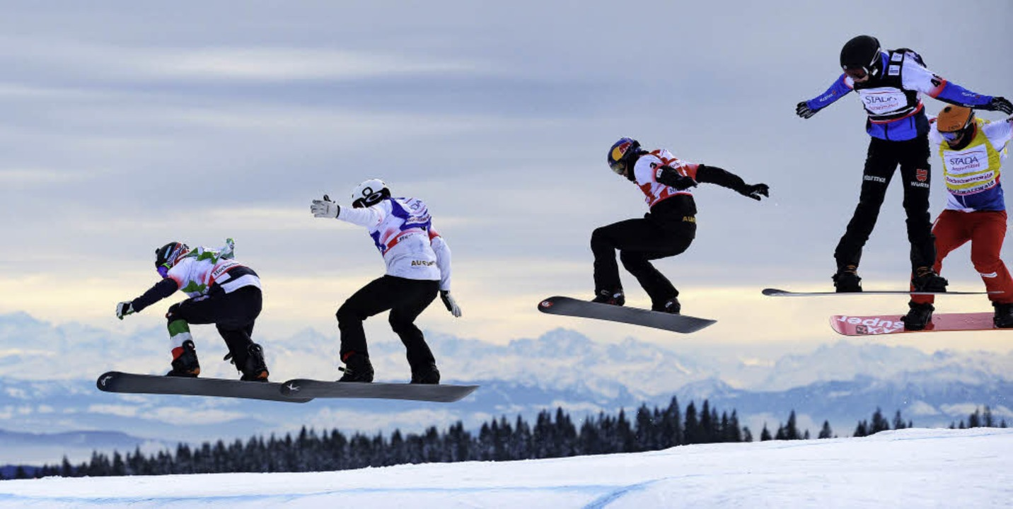 Heben erneut am Feldberg ab: die weltbesten Snowboardcrosser   | Foto: DPA